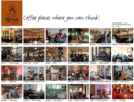 Coffee places where you can think!
