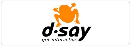 דיסיי, די סיי, אינטראקטיב, לוגו, d-say