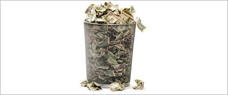 פח זבל, כסף, מזבלה, דולרים