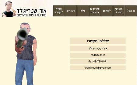 רויטל פאלקה, פלסטלינית, פלסטלינה, אתר אינטרנט, אורי שטרייגולד, creativenow