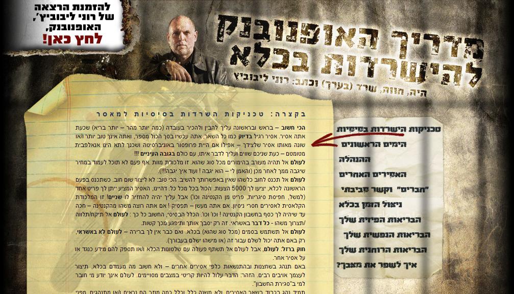 האופנוסייט - רוני ליבוביץ, האופנובנק מציג את מדריך האופנובנק להישרדות בכלא