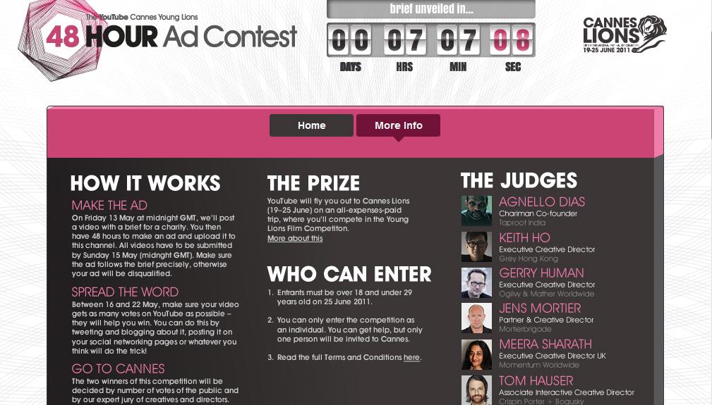 תחרות 48 השעות של פסטיבל קאן ואתר YouTube