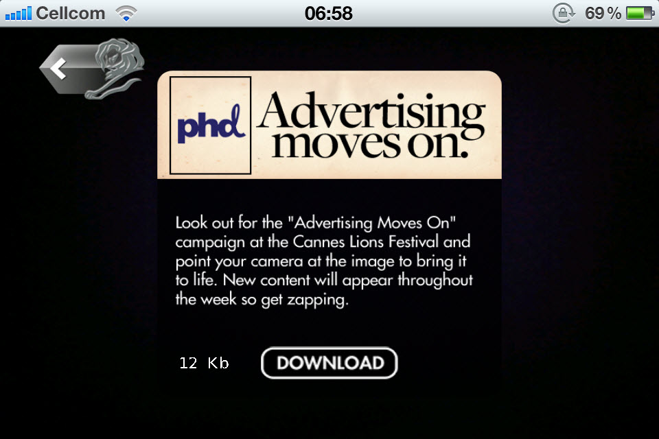 Advertising Moves On - פסטיבל קאן 2011
