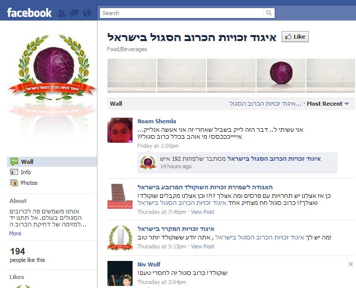 איגוד זכויות הכרוב הסגול בישראל