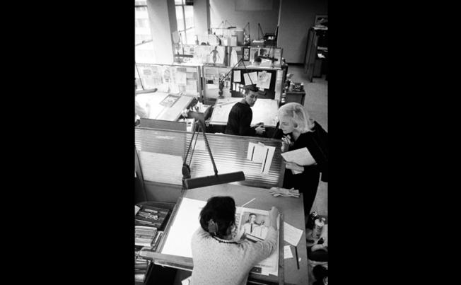 סטודיו בשלהי שנות ה-50 במשרד הפרסום GREY