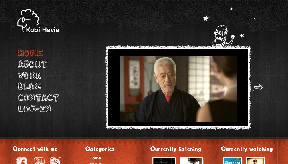 האתר החדש של הבמאי קובי חביה