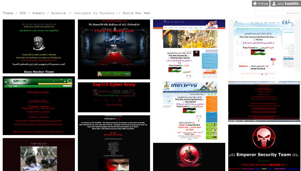 אתרים פרוצים מתוך הטאמבלר