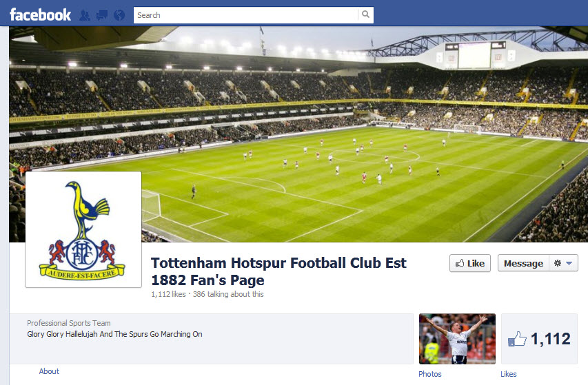 Tottenham Hotspur Football Club Est 1882 Fan's Page