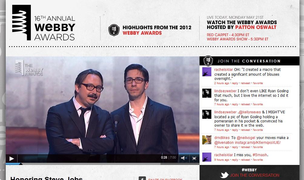 צפו בטקס ה-Webby Awards 2012