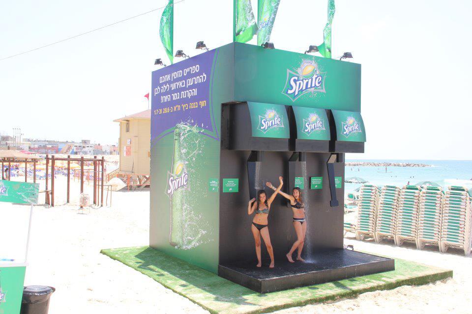 ספרייט - מקלחות בים