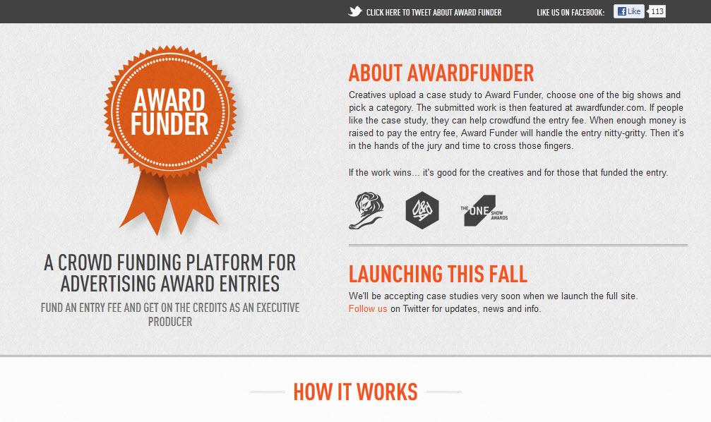 Award Funder: הקראוד פאנדינג של עולם הפרסים!