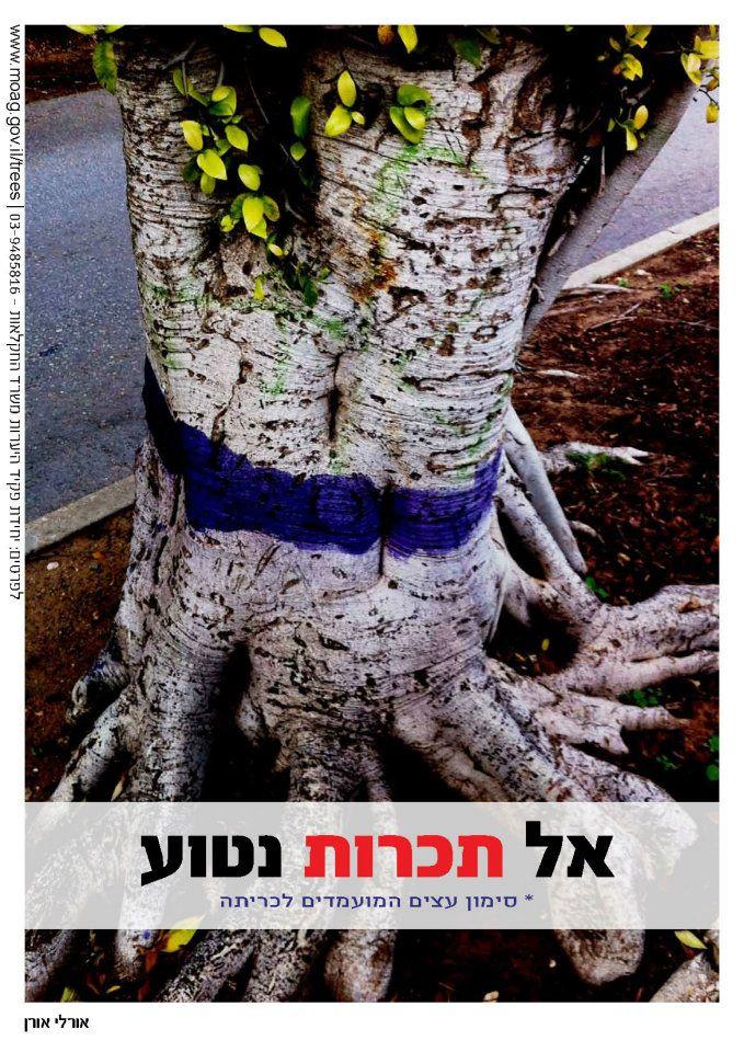 קמפיין למניעת כריתת והשחתת עצים