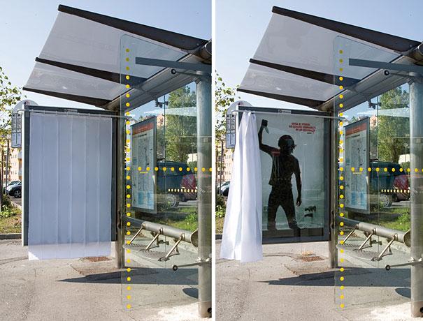 40 דוגמאות לפרסום קריאייטיבי וחכם בתחנות אוטובוס (44)