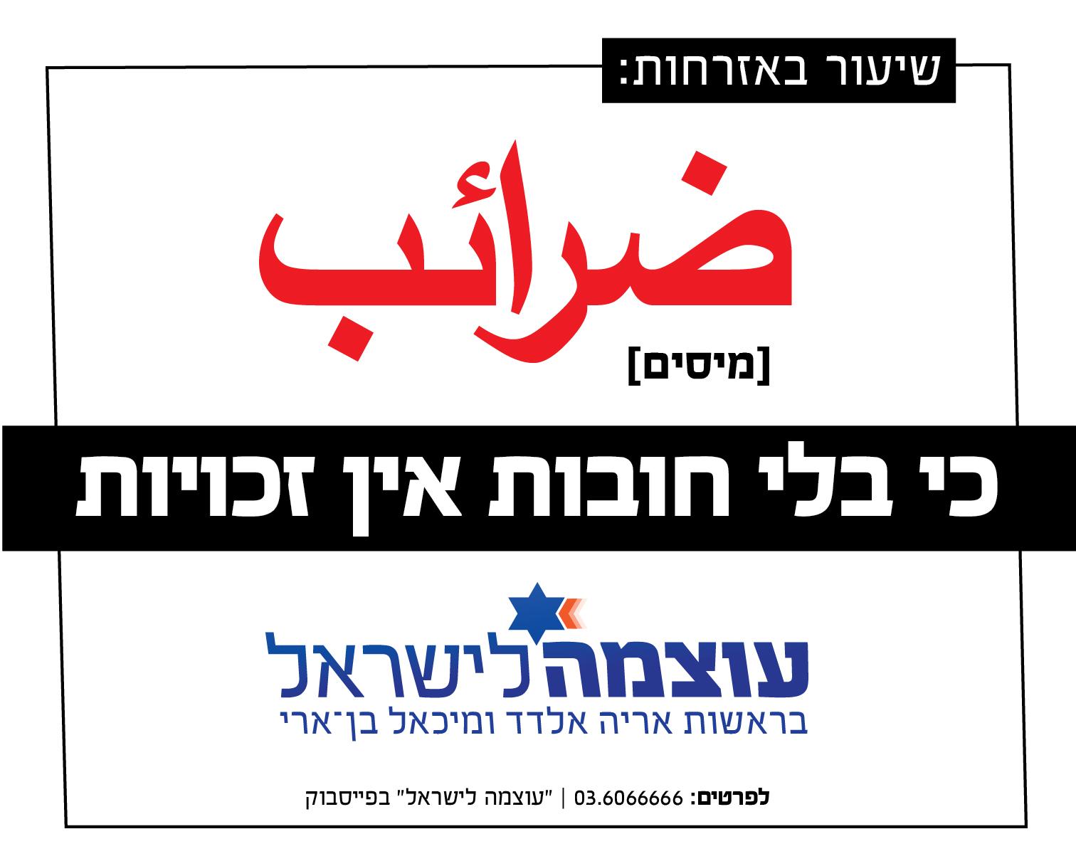 בחירות 2013: קמפיין הבחירות של מפלגת עוצמה לישראל - שיעור באזרחות