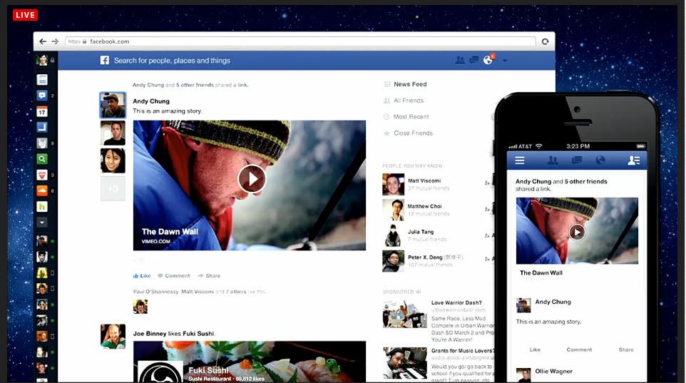 ה-UI החדש של הניוזפיד של פייסבוק