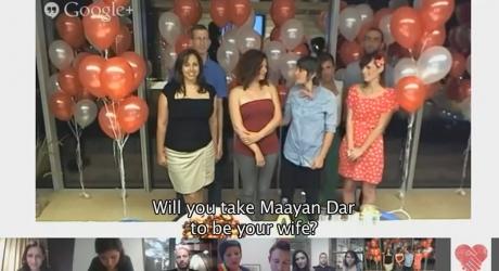 עושים לגליזציה לאהבה: זוגות חד מינייים ישראלים התחתנו בטקס דיגיטלי באמצעות גוגל האנג אאוט