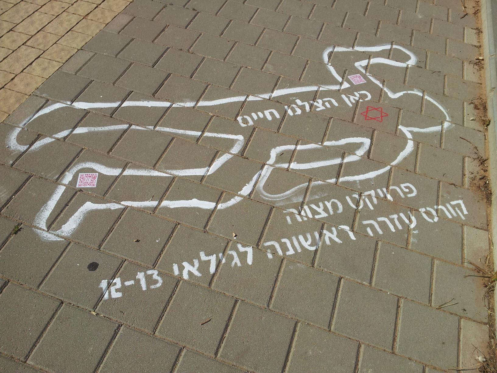 פרויקט מצווה - מגן דוד אדום וקבוצת סטודנטים מהבינתחומי בקמפיין מדרכות - כאן הצלנו חיים
