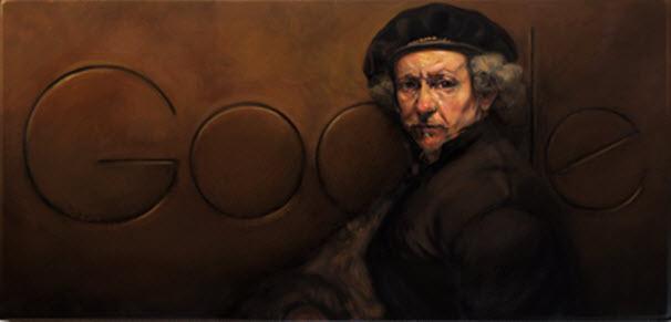 דודל: גוגל במחווה לצייר רמברנדט הרמנזון ואן ריין