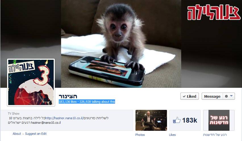 עמוד הצינור בפייסבוק