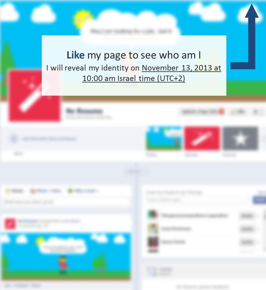 רץ בפייסבוק: אני מחפש עבודה וקורות חיים זה לא בשבילי
