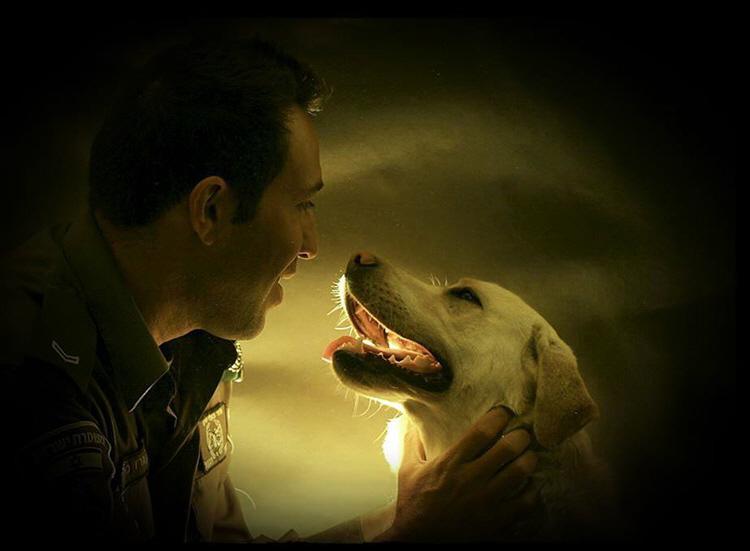 """הלוחם וכלבו - שוטרי יחידת הכלבנים של מג""""ב ירושלים בסדרת פורטרטים עם כלביהם"""