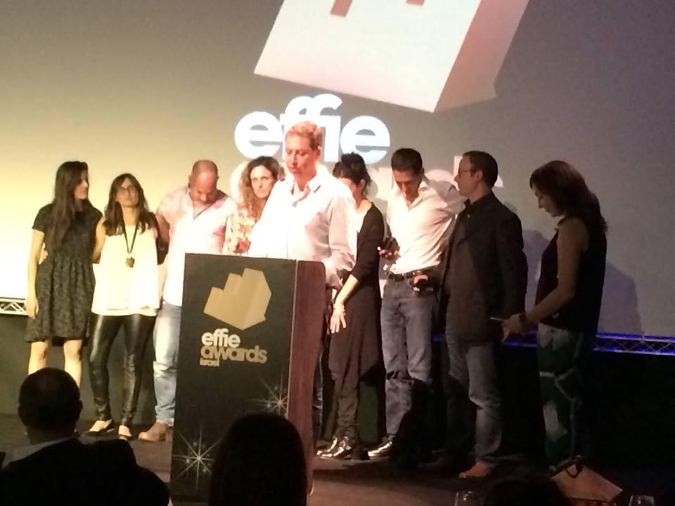 אנשי מקאן אריקסון ו-YES מקבלים את פרס האפי פלטיניום. צילום: חנה רדו.