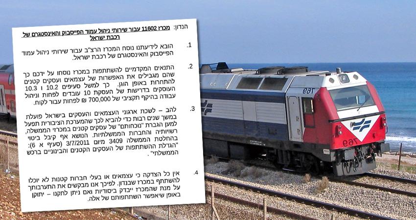 רכבת ישראל, ויקיפדיה ואילוסטרציה