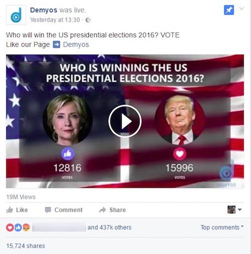 סקר לייב בפייסבוק