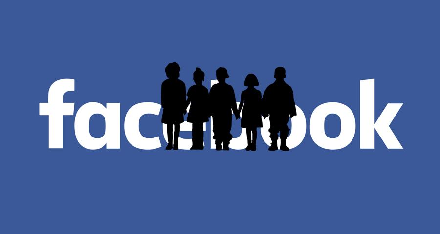 ילדים בפייסבוק, אילוסטרציה