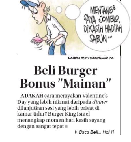 ברגר קינג על שער עיתון אינדונזי