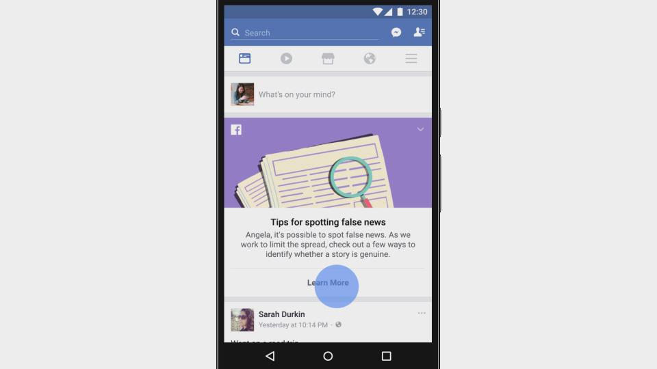 חדשות מזוייפות בפייסבוק