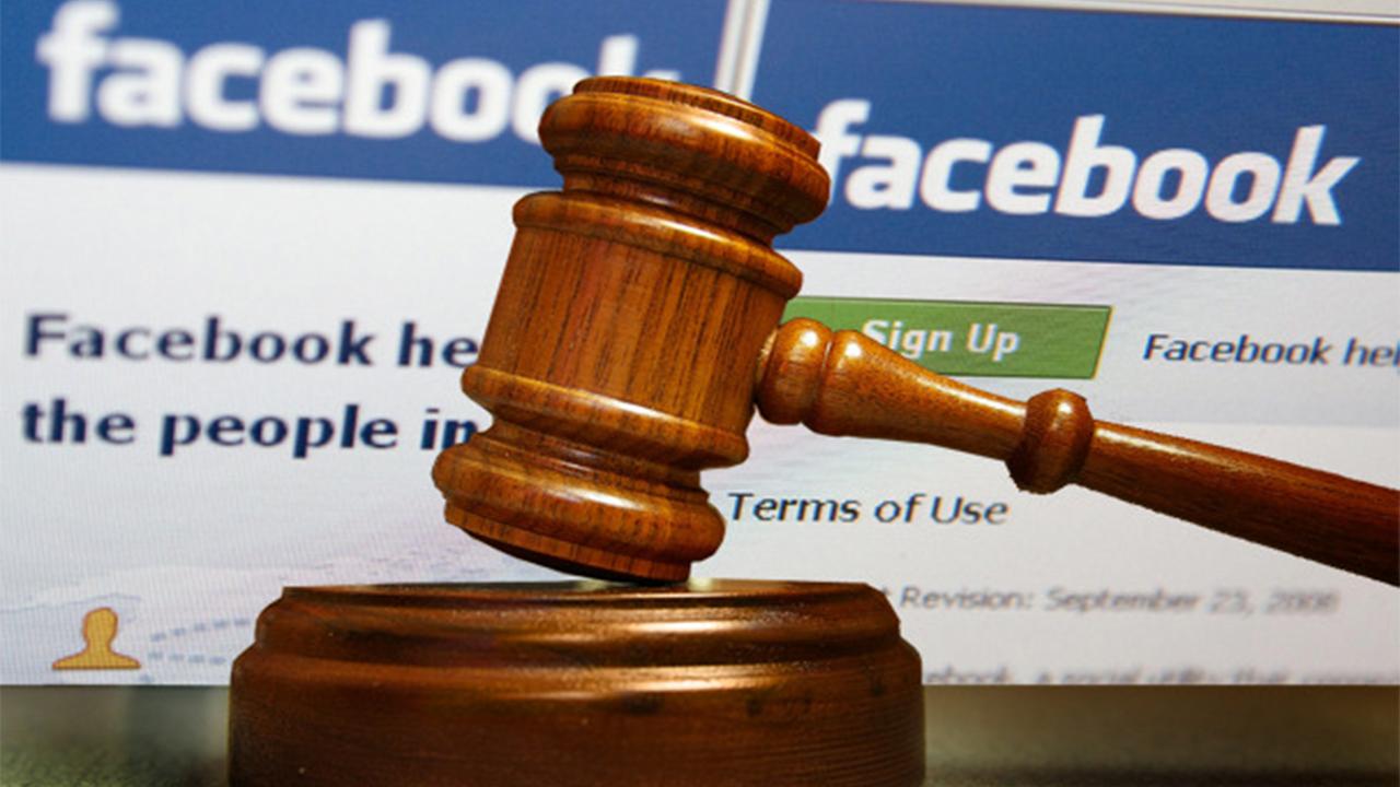 פייסבוק - בית משפט, אילוסטרציה